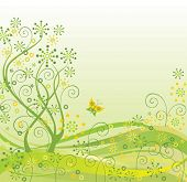 Spring green abstract background
