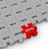 2015 year time passing jigsaw puzzle