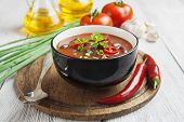 Постер, плакат: Chili Soup With Red Beans And Greens