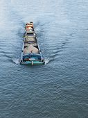 Постер, плакат: Barge on the Seine River Melun France
