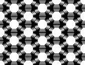 picture of octagon  - Design seamless monochrome octagon geometric pattern - JPG