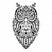 picture of swirly  - Decorative Owl - JPG