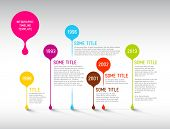 Colorful  Vector Infographic timeline report template with bubbles
