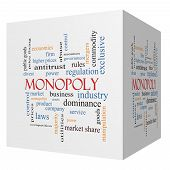 stock photo of higher power  - Monopoly 3D cube Word Cloud Concept with great terms such as business industry dominance and more - JPG