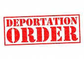 picture of deportation  - DEPORTATION ORDER red Rubber Stamp over a white background - JPG