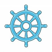 pic of rudder  - Rudder icon or Ship Wheel isolated on white - JPG