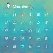image of sick kidney  - Medicine and health line Icons set - JPG
