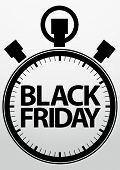 picture of friday  - Black friday stopwatch icon - JPG
