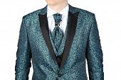 pic of jade blue  - Fashionable mens suit with a blue - JPG