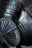 picture of armor suit  - Detail of a historic medieval German armor - JPG