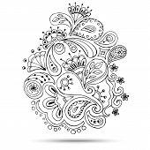 foto of henna tattoo  - Henna Paisley Mehndi Doodles Abstract Floral Vector Illustration Design Element - JPG