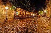 pic of bohemian  - Vintage Skadarska street in Skadarlija main bohemian quarter of Belgrade Serbia - JPG