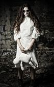 picture of rag-doll  - Horror style shot - JPG