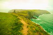 stock photo of irish  - Irish landscape - JPG