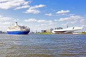 picture of ijs  - Harbor from Amsterdam in the Netherlands - JPG