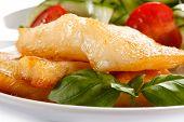 picture of halibut  - Fish dish  - JPG
