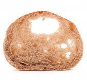 image of fresh slice bread  - Slice of fresh ciabatta bread isolated on white background cutout - JPG