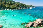image of sea-scape  - Tropical beach Similan Islands Andaman Sea Thailand - JPG