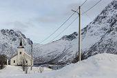 picture of lofoten  - Vestpollen chapel in Austnesfjord - JPG