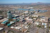 picture of piestewa  - Aerial view of downtown Tempe Arizona looking to the northwest - JPG
