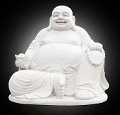 pic of budha  - Smiling Big Buddha Statue isolated With clipping path - JPG