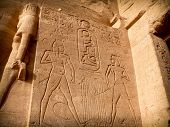 stock photo of ramses  - Scenes from the life of Ramses II in low - JPG