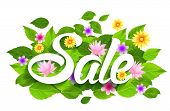 image of special day  - Spring Sale Word with Butterflies - JPG