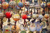 image of beads  - Orinetal Beads Hanged in Grand Bazaar Istanbul Turkey - JPG