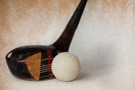 image of designated driver  - Vintage antique golf driver  - JPG