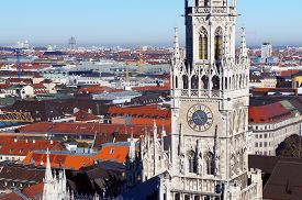 image of munich residence  - The Munich city spring day skyline - JPG
