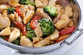 stock photo of stir fry  - Chicken - JPG