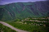 stock photo of armenia  - Photo of the  Summer mountain road - JPG