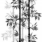 stock photo of bamboo leaves  - Seamless pattern - JPG