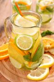 foto of iced-tea  - ice tea with citrus fruits - JPG