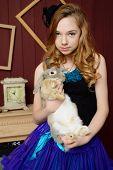 foto of alice wonderland  - Young girl at the image of Alice in Wonderland - JPG