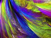 image of psychodelic  - Abstract shapes made of fractal textures - JPG