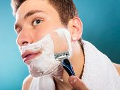 picture of razor  - Health beauty and skin care concept - JPG