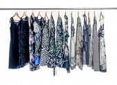 picture of racks  - Fashion female clothes rack display  - JPG