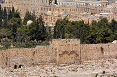picture of divine mercy  - The Golden Gate in Jerusalem Old City Walls Israel - JPG