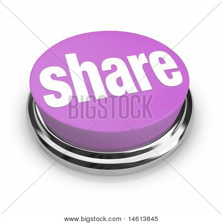 Share Word On Round Button