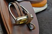 English saddle and stirrup