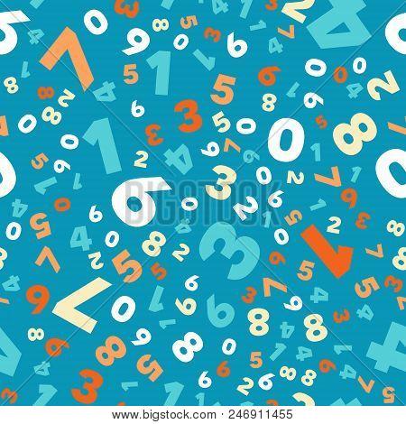 Mathematics Background Different Numbers In Random Pattern