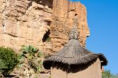 stock photo of dogon  - The Bandiagara Escarpment is an escarpment in the Dogon country of Mali.   ** Note: Slight graininess, best at smaller sizes  - JPG