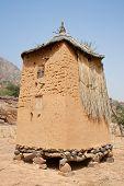 stock photo of dogon  - Storage place for pearl millet and other grains in a Dogon village Mali  - JPG