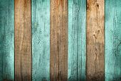 Green And Natural Wood Textured Planks Background With Delicate Vignetting poster