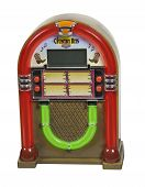 picture of jukebox  - Old fashioned jukebox used to play records  - JPG
