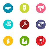 Technology Of Progress Icons Set. Flat Set Of 9 Technology Of Progress Vector Icons For Web Isolated poster