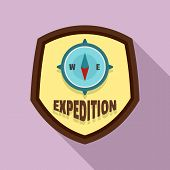 Expedition Logo. Flat Illustration Of Expedition Vector Logo For Web Design poster