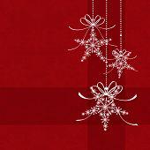 Постер, плакат: Абстрактные элегантность красный Рождество снежинки бесшовные шаблон