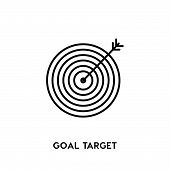 Goal Target Vector Icon On White Background. Goal Target Modern Icon For Graphic And Web Design. Goa poster